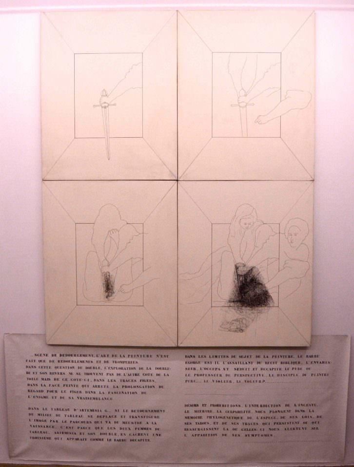 """""""Le milieu du tableau. Espace perspectif et désirs interdits d'Artemisia Gentileschi"""" (1979)."""