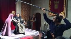 Un momento del rodaje en el Castillo de Benisanó de la obra 'Matar al rey', de Arden. Imagen cortesía de la compañía.