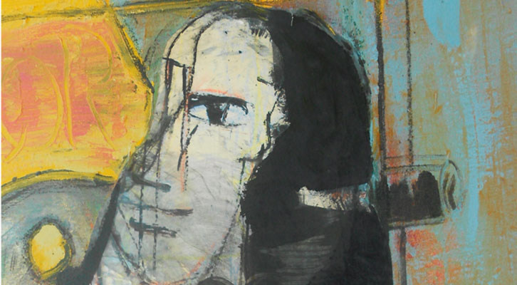 Detalle del cartel de José Morea de Mostra Viva 2014.