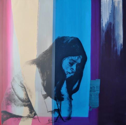 Obra de Mª Ángeles Aguilera con la que participa en la IV Semana del Arte Marina d'Or. Imagen cortesía de la organización.