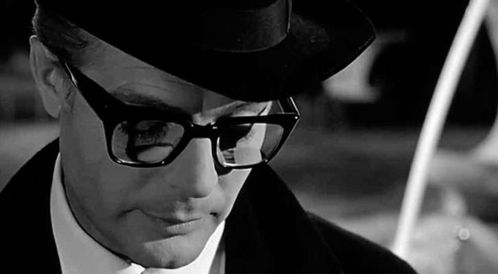 Marcello Mastroiani en 'Ocho y medio', de Federico Fellini, película del ciclo 'Cine en los Baños', en Baños del Almirante.