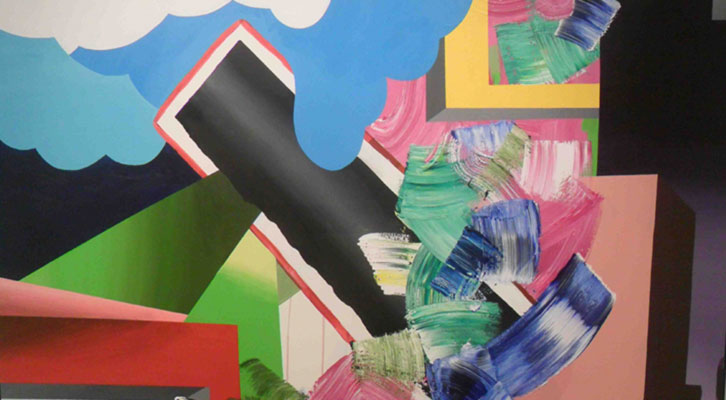 Una de las obras de Pedro Paricio que se puede ver en la exposición de la Galería Muro.