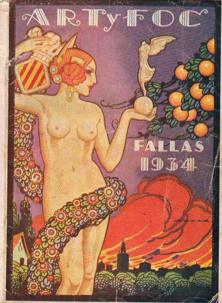 Una de las ilustraciones recogidas en el libro 'Figues i naps' de Rafael Solaz. Imagen cortesía del autor.