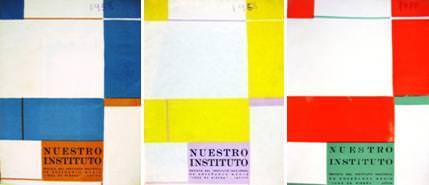 Portadas de la revista Nuestro Instituto, de Rafael Pérez Contel.