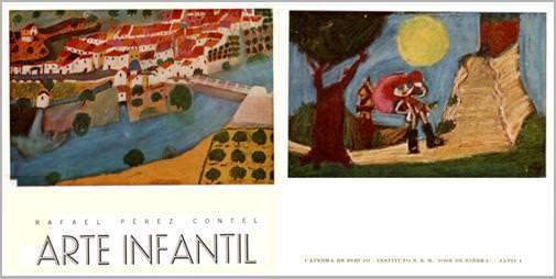 Portada y contrapartida de Arte Infantil, de Rafael Pérez Contel.