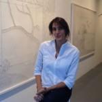 La artista Amparo Sard en Maddox Gallery de Londres. Foto: Miguel Mallol.