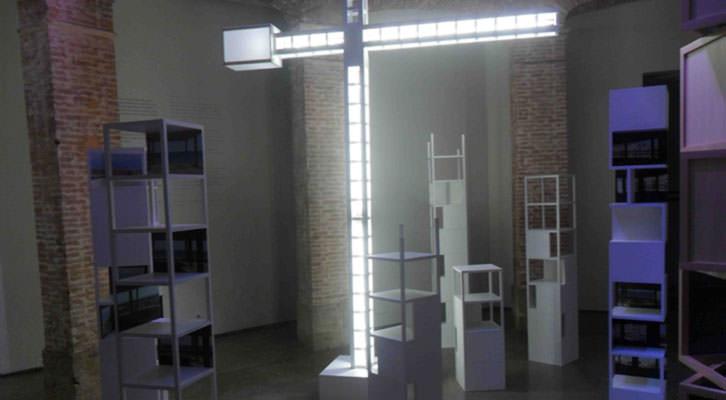 Imagen de la exposición 'Space before place' de Agustín Serisuelo en La Gallera.