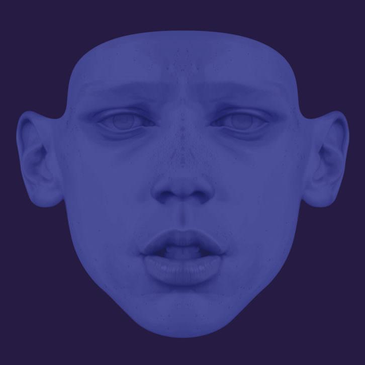 Obra de Jules Julien en la exposición 'Blue Series. A Romantic Cluedo'. Imagen cortesía de Espai Tactel.