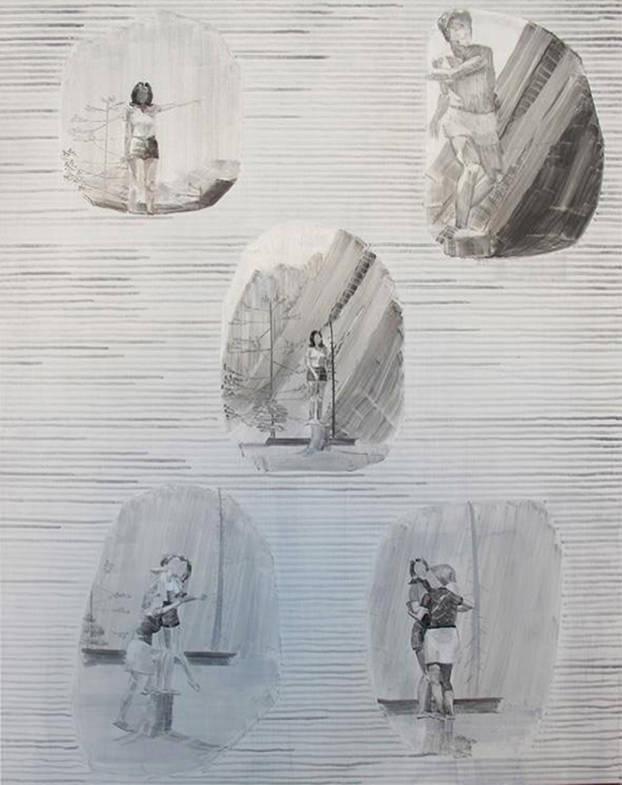 Amnesies, 2011. Oleo sobre tela 97 x 73 cm. Imagen cortesía Galería Joan Prats.