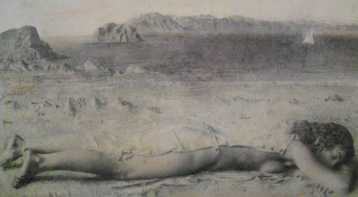 Obra de Antonio López de la Colección Valdepeñas expuesta en el Centro del Carmen.