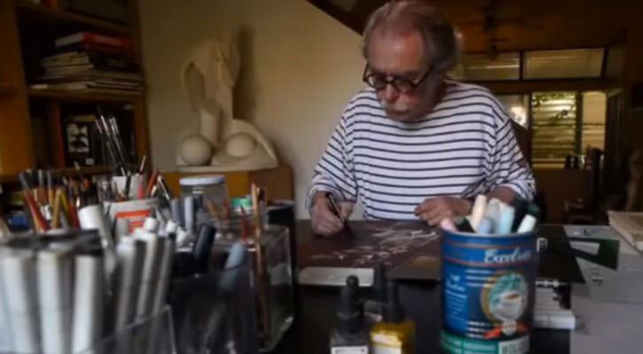 Fotograma del video de Joan Dolç dedicado a Jorge Ballester, que aparece en la imagen.