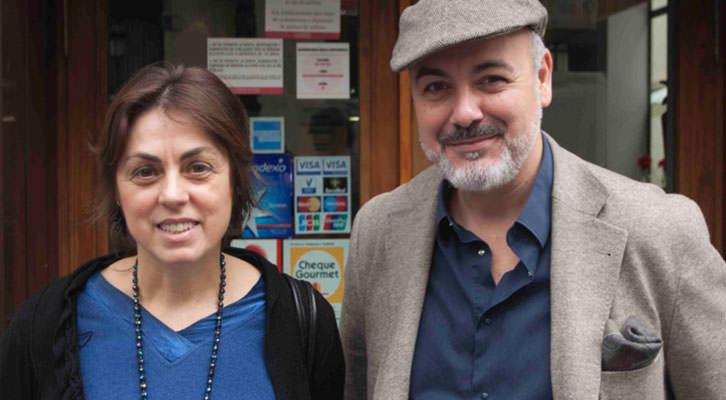 Begoña Siles, directora de la Cátedra Berlanga, y Rafael Maluenda, director del Berlanga Film Museum. Fotografía: Fernando Ruiz.