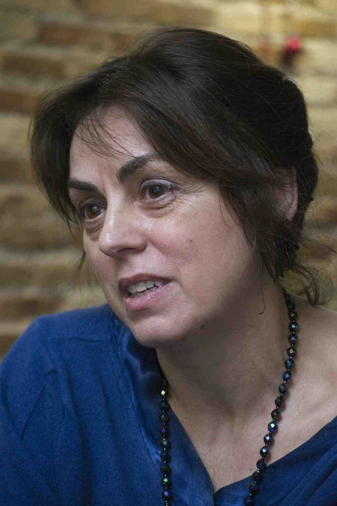 Begoña Siles, en un momento de la entrevista. Fotografía: Fernando Ruiz.