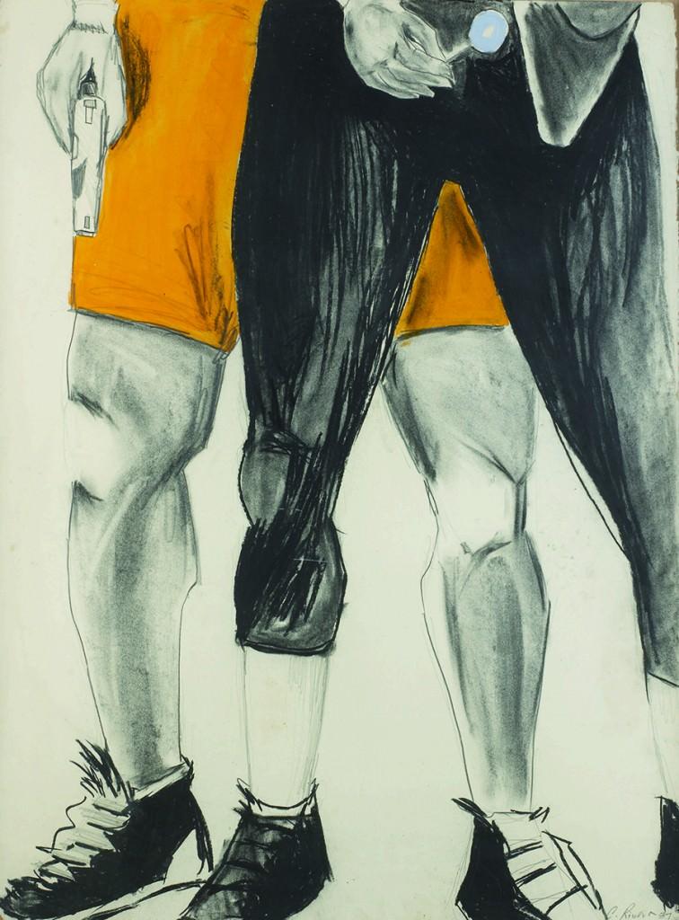 Dibujo de Carlos Rivera. Cortesía de Colección Tomás Ruiz.