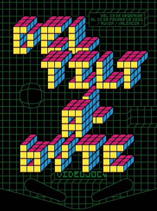 Cartel de la exposición 'Del Tilt al Byte'. Cortesía del MuVIM.
