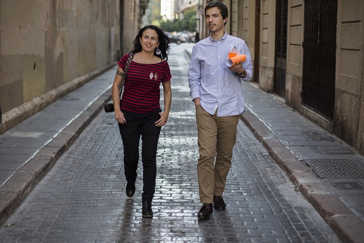 Eva Máñez y Vicent Molins. Foto: Biel Aliño
