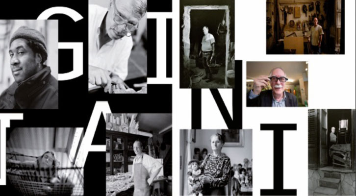 Montaje de fotografías de la tarjeta de presentación de la muestra 'Artigiani', de Francesco Filangieri. Imagen cortesía de Col.legi Major Rector Peset.