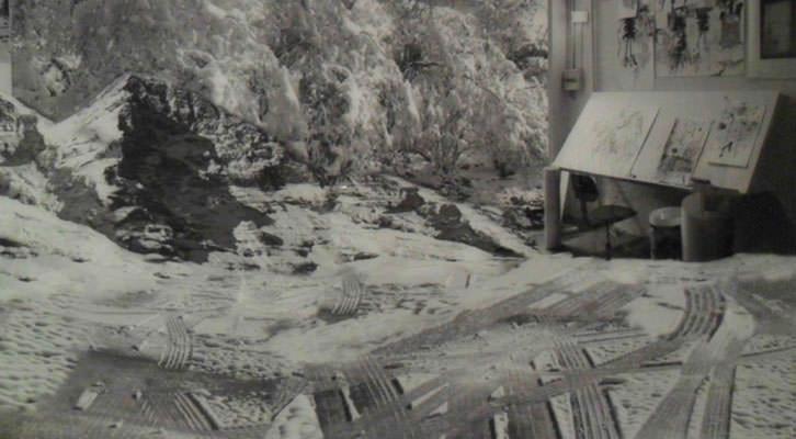 Obra de Gonzalo Puch de la Colección Fundación Coca-Cola en La Nau de la Universitat de València.