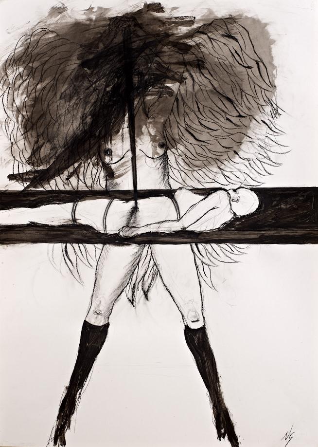 Dibujo de Natalia Granada. Cortesía de Colección Tomás Ruiz.