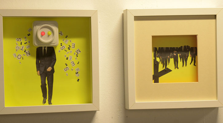 Obra de Dolores Furió y Silvana Andrés en la exposición Mar-Mar del Octubre Centre de Cultura Contemporània. Imagen cortesía de Mostra Viva.