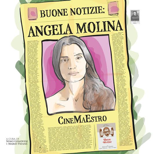 Libro de Mario Patané sobre Ángela Molina, presentado en Mostra Viva. Imagen cortesía de la organización.