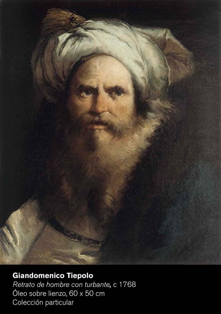 Retrato de Giandomenico Tiepolo. Cortesía de Museo de Bellas Artes de Bilbao.