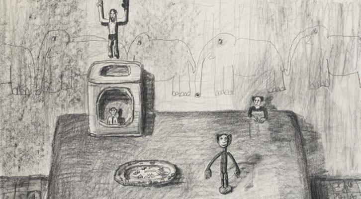 Dibujo de Ignacio Iturria. Cortesía de Colección Tomás Ruiz.