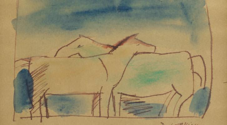 Dibujo de José Gurvich. Cortesía de Colección Tomás Ruiz.