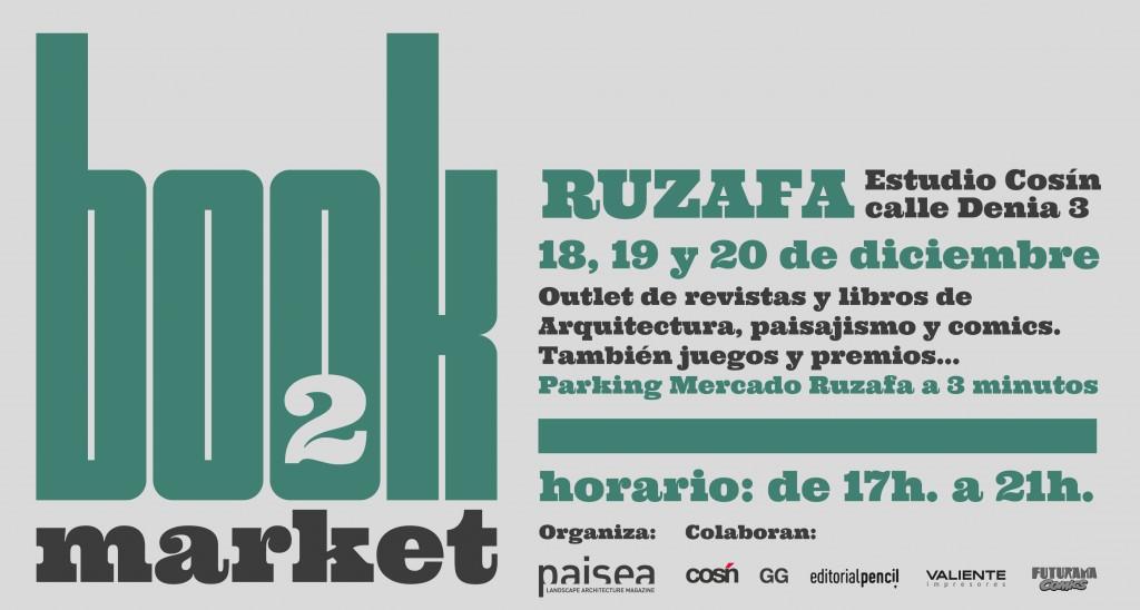 Cartel Book Market en Estudio Cosín