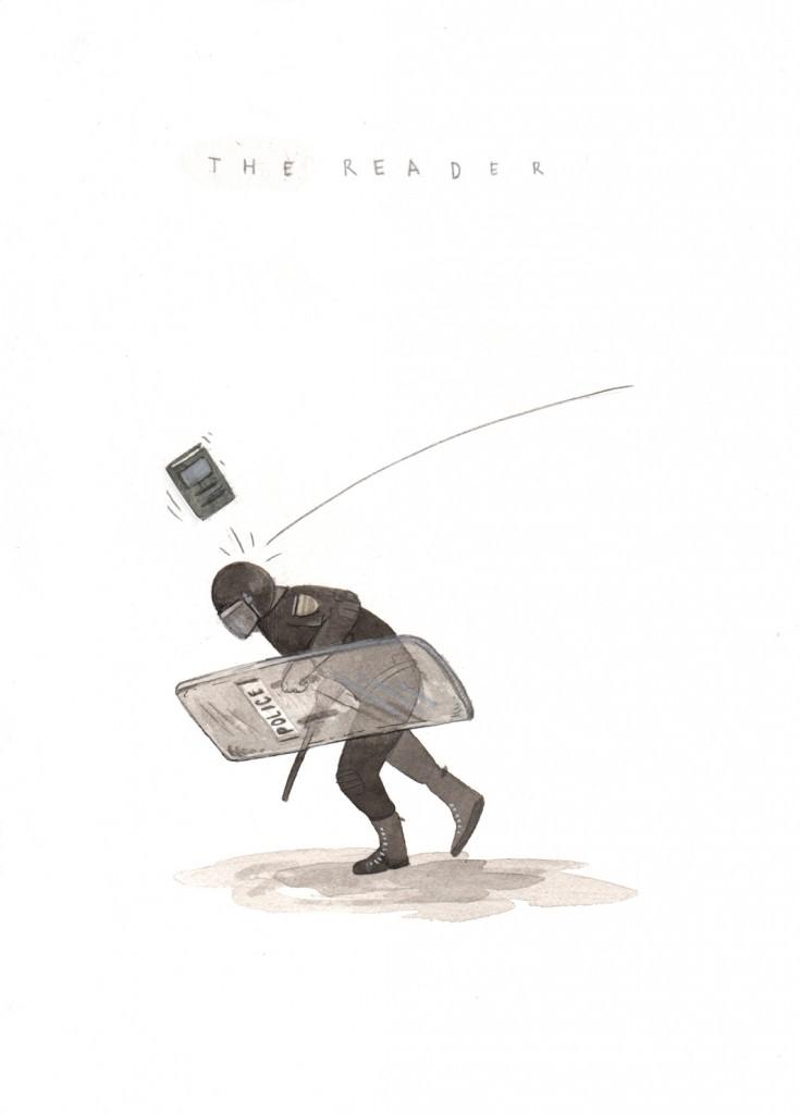 """""""The Reader"""", por Escif."""