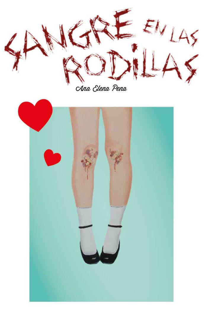 """Portada de """"Sangre en las rodillas"""": Imagen cortesía de la autora."""