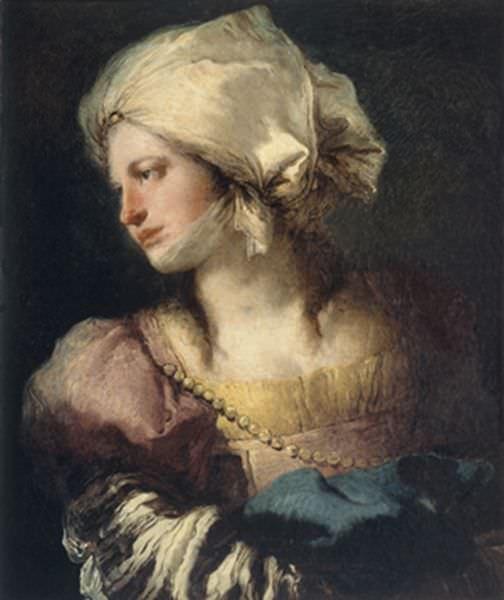 Retrato de Giandomenico Tiepolo. Imagen cortesía del Museo de Bellas Artes de Bilbao.