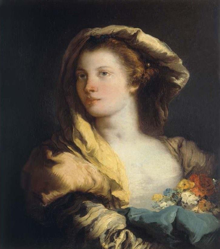 Retrato de mujer de Giandomenico Tiepolo. Imagen cortesía del Museo de Bellas Artes de Bilbao.