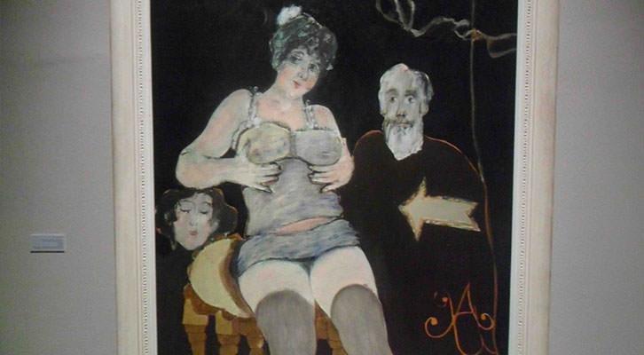Obra de Agustín Úbeda de la Colección Valdepeñas expuesta en el Centro del Carmen.