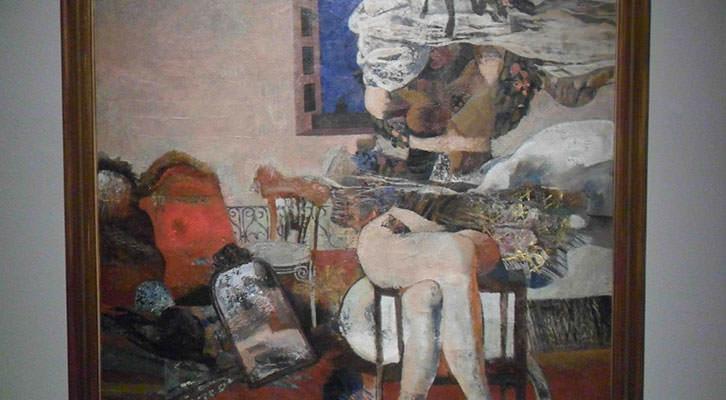 Obra de Antonio Zarco de la Colección Valdepeñas expuesta en el Centro del Carmen.