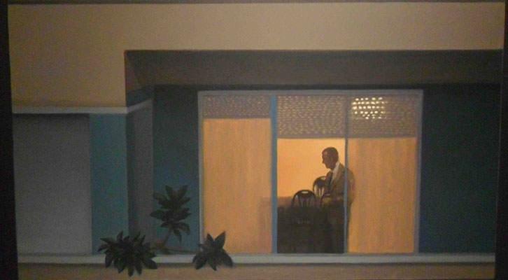 Obra de Gonzalo Sicre de la Colección Valdepeñas expuesta en el Centro del Carmen.