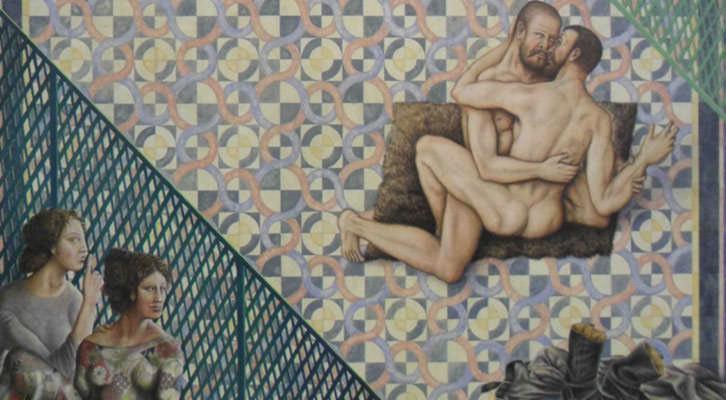 Obra de Guillermo Pérez Villalta de la Colección Mariano Yera en el Centro del Carmen.