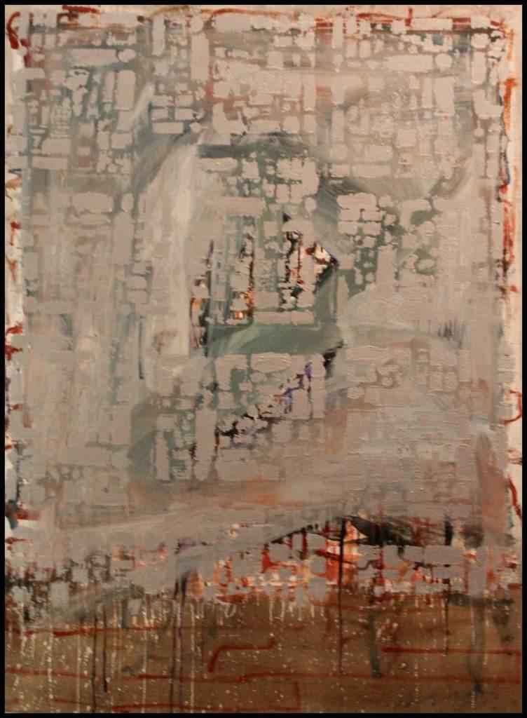 Obra de Xavier Moingeon de la exposición Sinergia en Sporting Club Russafa. Imagen cortesía del autor.