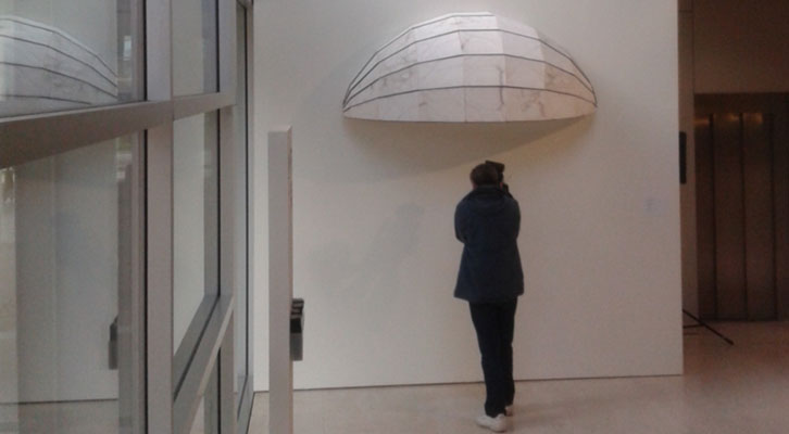 Obra de Cristina Iglesias en el Museo de Bellas Artes de Bilbao.