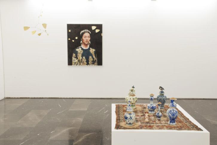 Obras de Iris van Dongen. Cortesía de la galería Luis Adelantado.