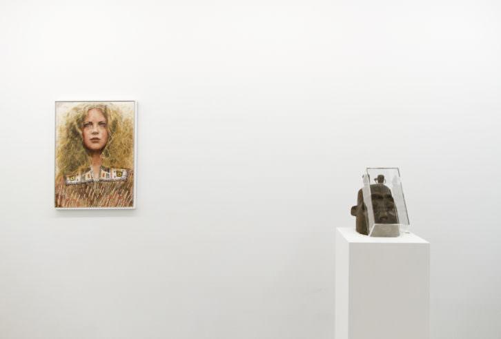 Obras de Iris van Dongen. Imagen cortesía de la galería Luis Adelantado.
