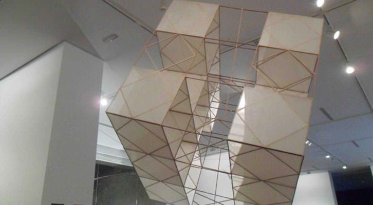 Obra de José María Yturralde en la exposición 'En Tránsito' del IVAM.