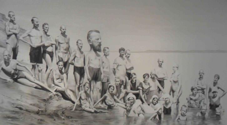Obra de Paco Pomet de la Colección Mariano Yera. Centro del Carmen.