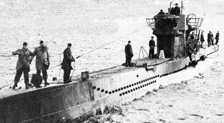 Imagen del Submarino U-1206 referido en el libro de Juan Eslava 'La Segunda Guerra Mundial contada para escépticos'.