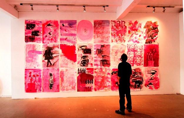 """Una imagen de la exposición """"Magenta"""". Imagen cortesía de la galería."""