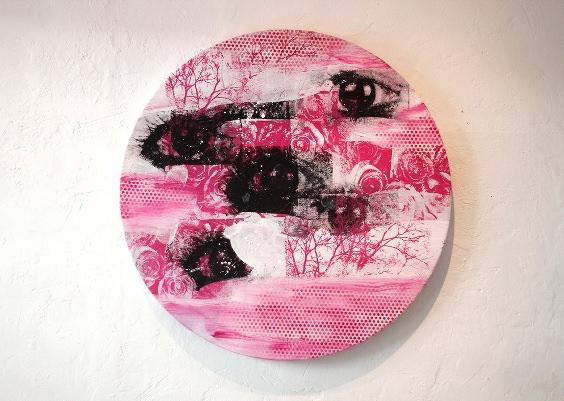 """Detalle de la exposición """"Magenta"""" de José Plá. Imagen cortesía de la Galería."""