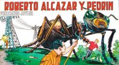 Ilustración de Roberto Alcázar y Pedrín, obra de Alberto Marcet Aparicio. 'Herois del tebeo valencià'. Filmoteca de CulturArts IVAC.