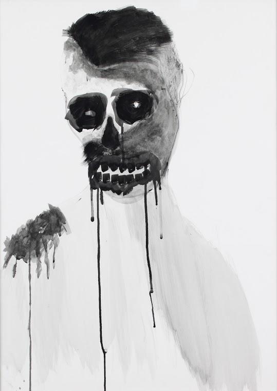 Obra de Pablo Bellot en la exposición Sobre papel en el MUA. Cortesía de Colección Tomás Ruiz.