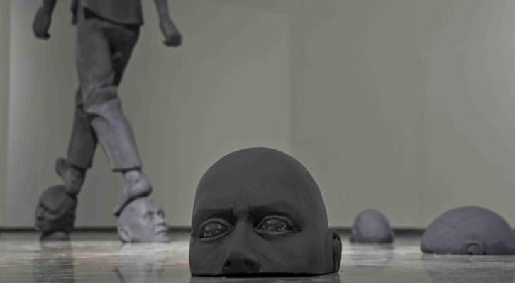 El hombre gris, de Cayetano Ferrández, en el Centro del Carmen. Imagen cortesía del autor.