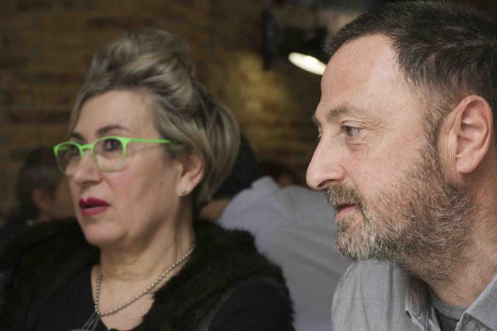 Carmen Calvo y Antonio Alcaraz, durante los Desayunos Makma en Lotelito. Fotografía: Fernando Ruiz.